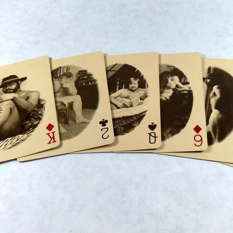 Vintage sex playing cards